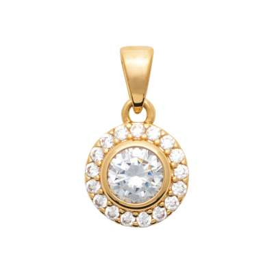 Pendants Gold plated 18k - Cubic Zirconia - Women