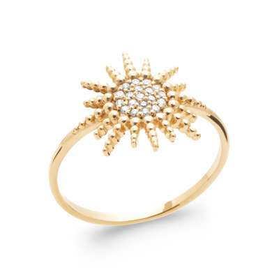 Ring Soleil Gold plated 18k 5 Microns - Cubic Zirconia - Women