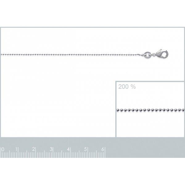 Catena de cou Sfera Palla Argento Sterling 925 - Donna - 40cm