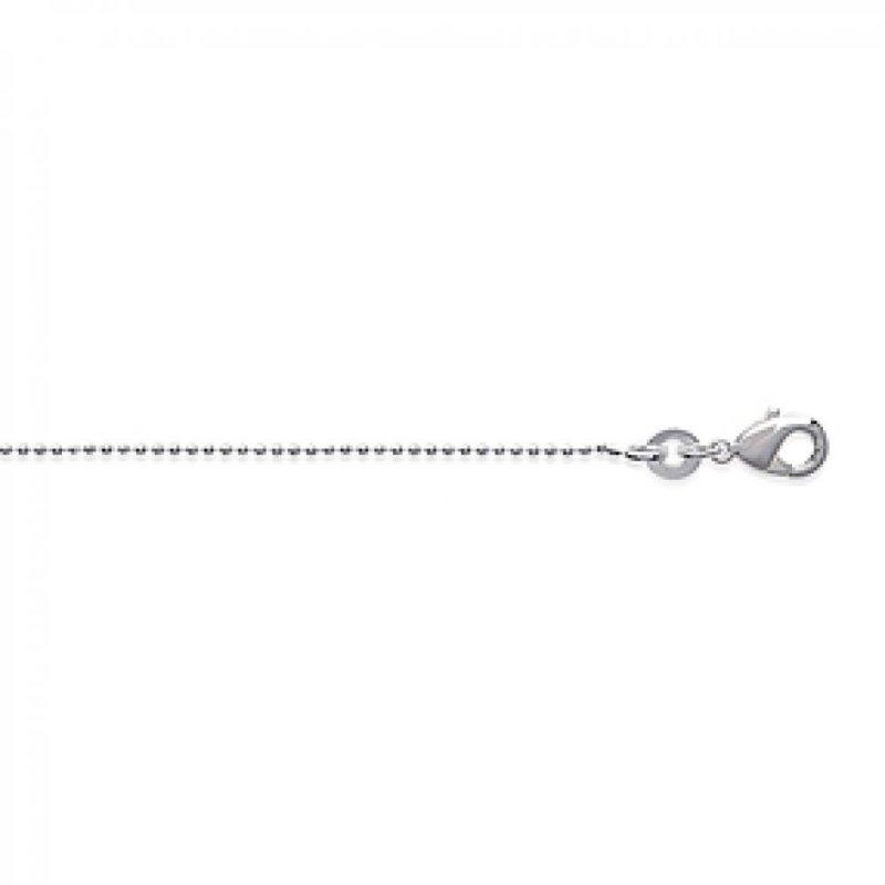 Cadena de cou Bola Plata de ley 925 - Mujer - 45cm