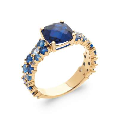 Ring Gold plated 18k 5...