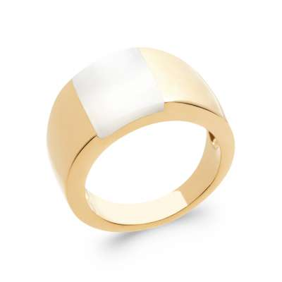 Ring Gold plated 18k 5 Microns - Mother of pearl - Women