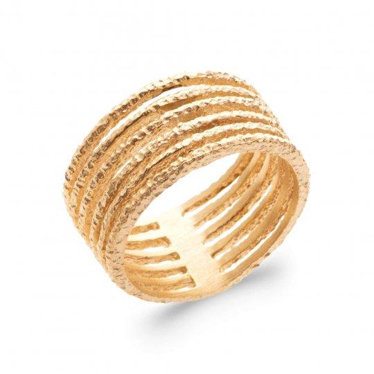 Ringe large multi-anneaux martelée Vergoldet 18k - Damen