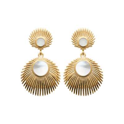 Earrings Mother of pearl  Gold plated 18k 750 - Women