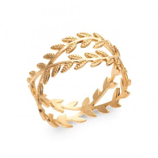 Ring Bay leaf croisé Gold plated 18k - Women