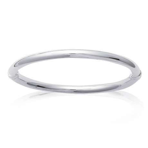 Gros Bracciale Bangle fil épais Argento Sterling 925 - Donna - 62mm