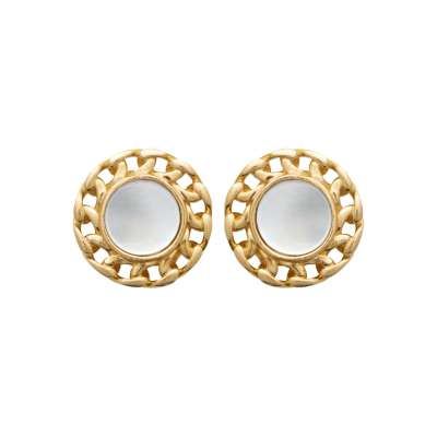 Puces Mother of pearl Gold plated 18k  - Women