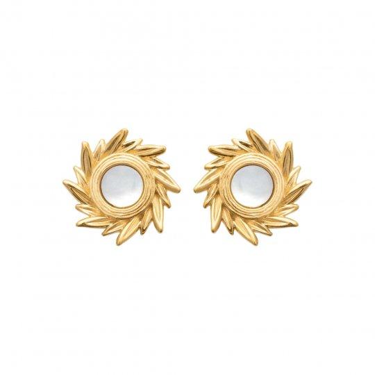 Ohrringe Perlmutter Soleil Vergoldet 18k - Damen