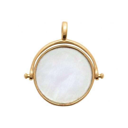 Ciondolo réversible Madreperla Placcato in oro 18k - Donna