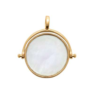 Pendants réversible Mother of pearl Gold plated 18k - Women