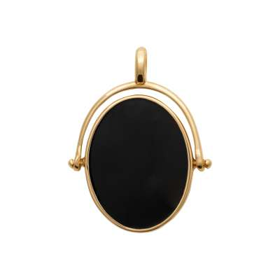 Pendants Émail Black Gold plated 18k - Women
