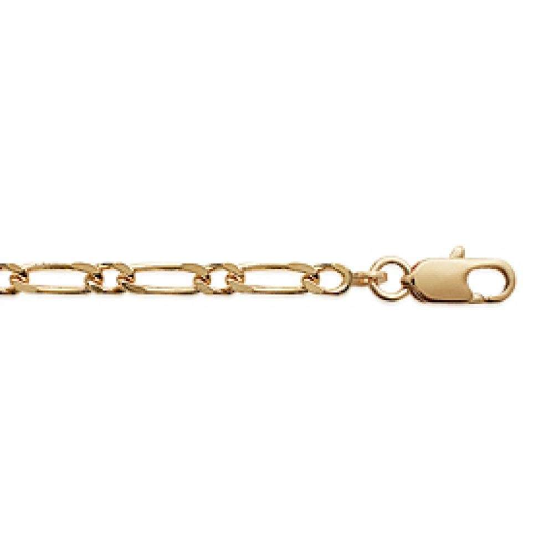 Armschmuck Kette Figaro Vergoldet 18k - Männer/Damen - 21cm
