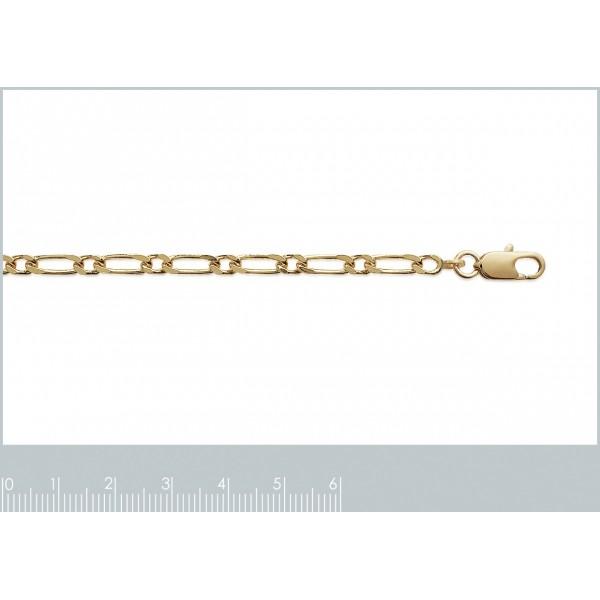 Catena de cou Figaro Placcato in oro 18k - Uomo/Donna - 45cm