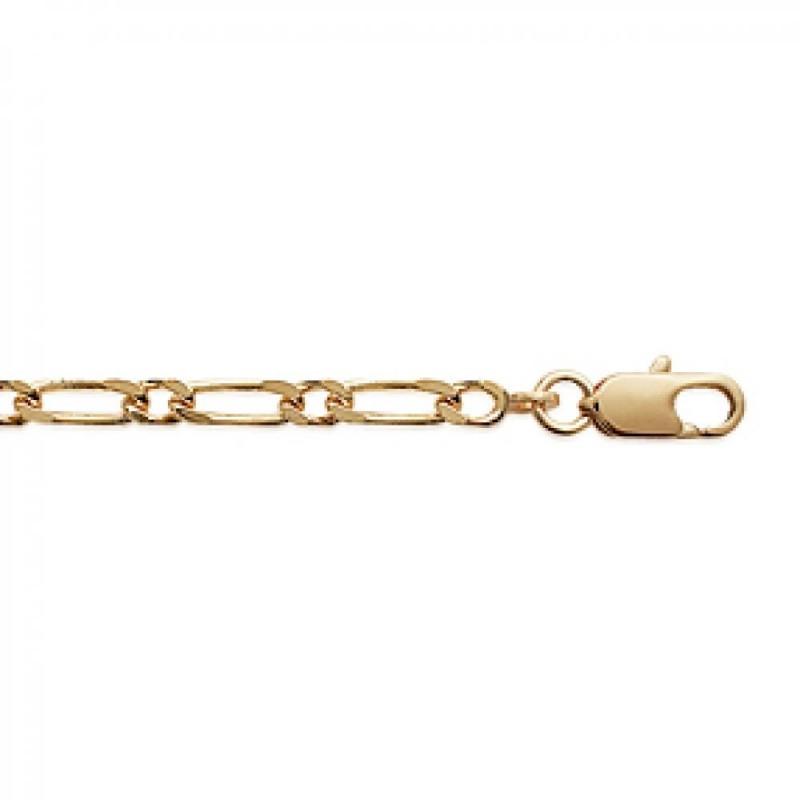 Chain Figaro Gold plated 18k - for Men/Women - 50cm