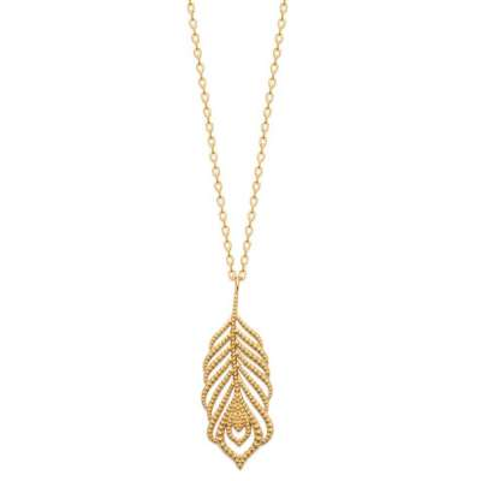 Halskette Feder Vergoldet 18k - Damen - 45cm