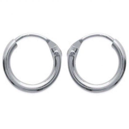 Mini Cerchio Orecchini argent 10mm - Uomo ou Donna