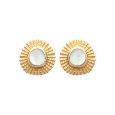 Earrings Gold plated 18k - Mother of pearl - Women