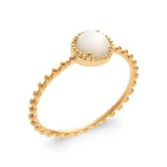 Ringe Vergoldet 18k 5 Mikron - Perlmutter - Damen