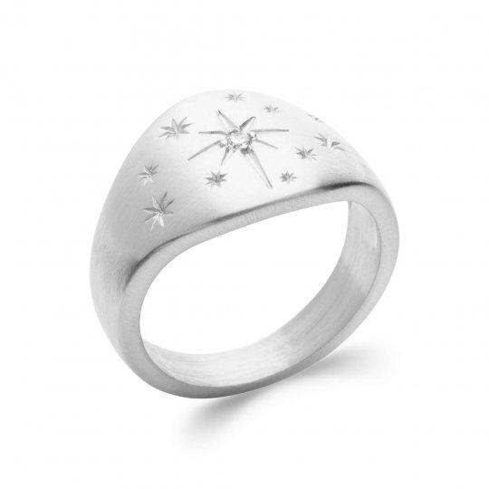 Ringe étoile Argent Rhodié - Kubisches Zirkonoxid - Damen