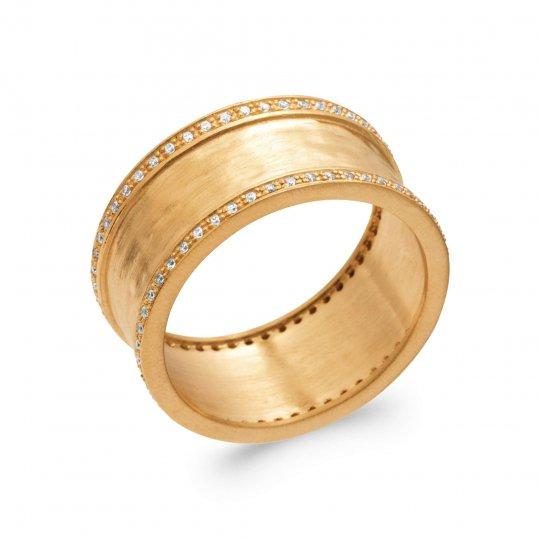 Anello Placcato in oro 18k 5 Micron - Zirconia Cubica - Donna