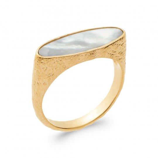 Anello Placcato in oro 18k 5 Micron - Madreperla - Donna