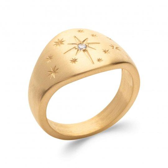 Anello Placcato in oro 18k 5 Micron - Zirconia Cubica -...