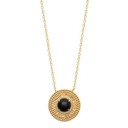 Halskette Vergoldet 18k - Agate - Damen - 45cm