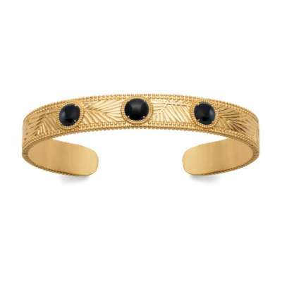 Bangle Gold plated 18k - Agate - Women - 58mm