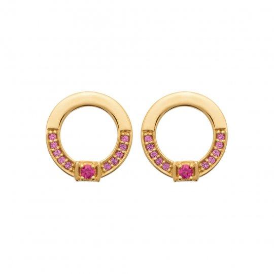Earrings Gold plated 18k - Pierre de synthèse - Women