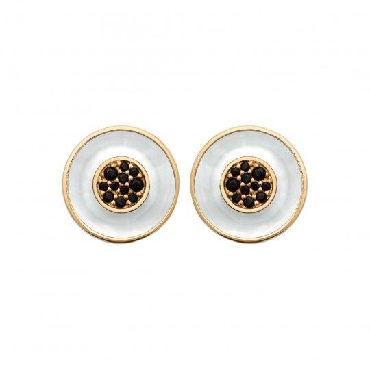 Earrings Gold plated 18k - Mother of pearl Pierre de...