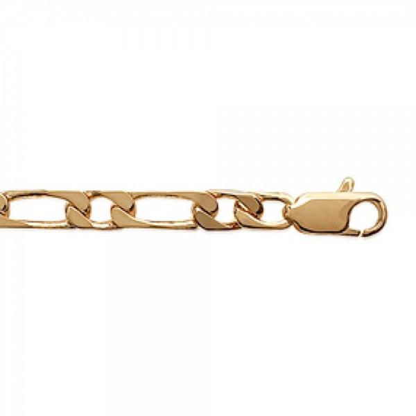 Chaîne Figaro Plaqué Or - Homme - 50cm