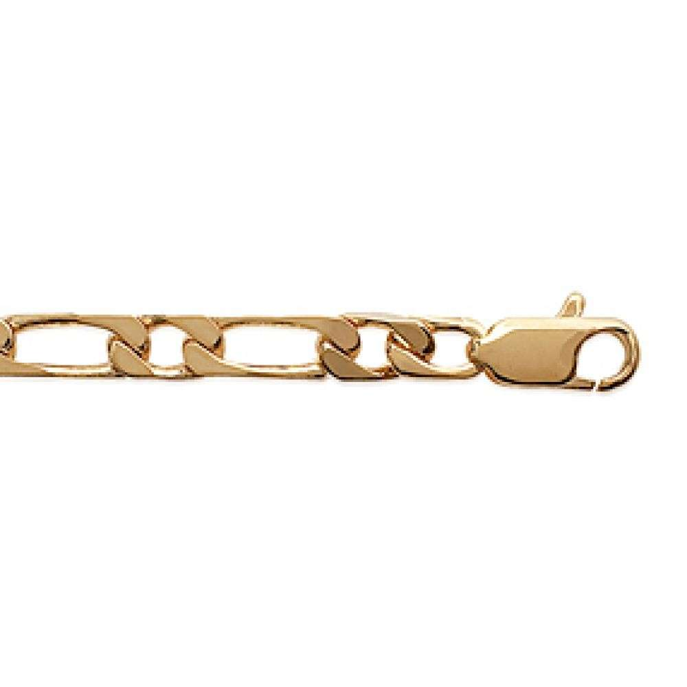 Chain Figaro Gold plated 18k - for Men - 55cm