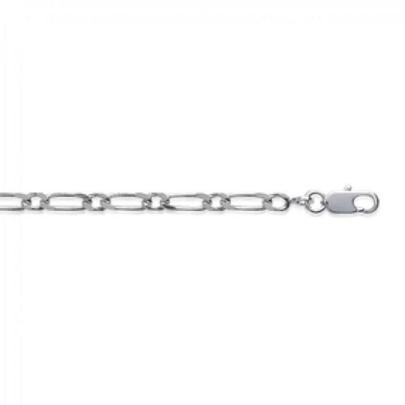 Bracelet Chain Figaro Sterling Silver - for Men/Women - 18cm