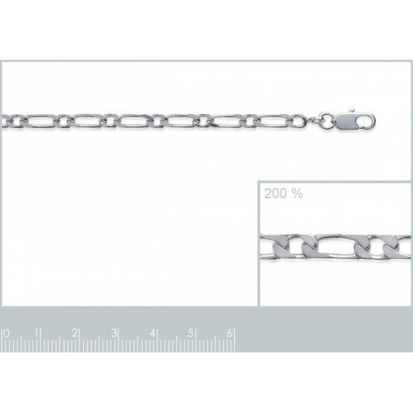 Catena Figaro Argento Sterling 925 - Uomo/Donna - 50cm