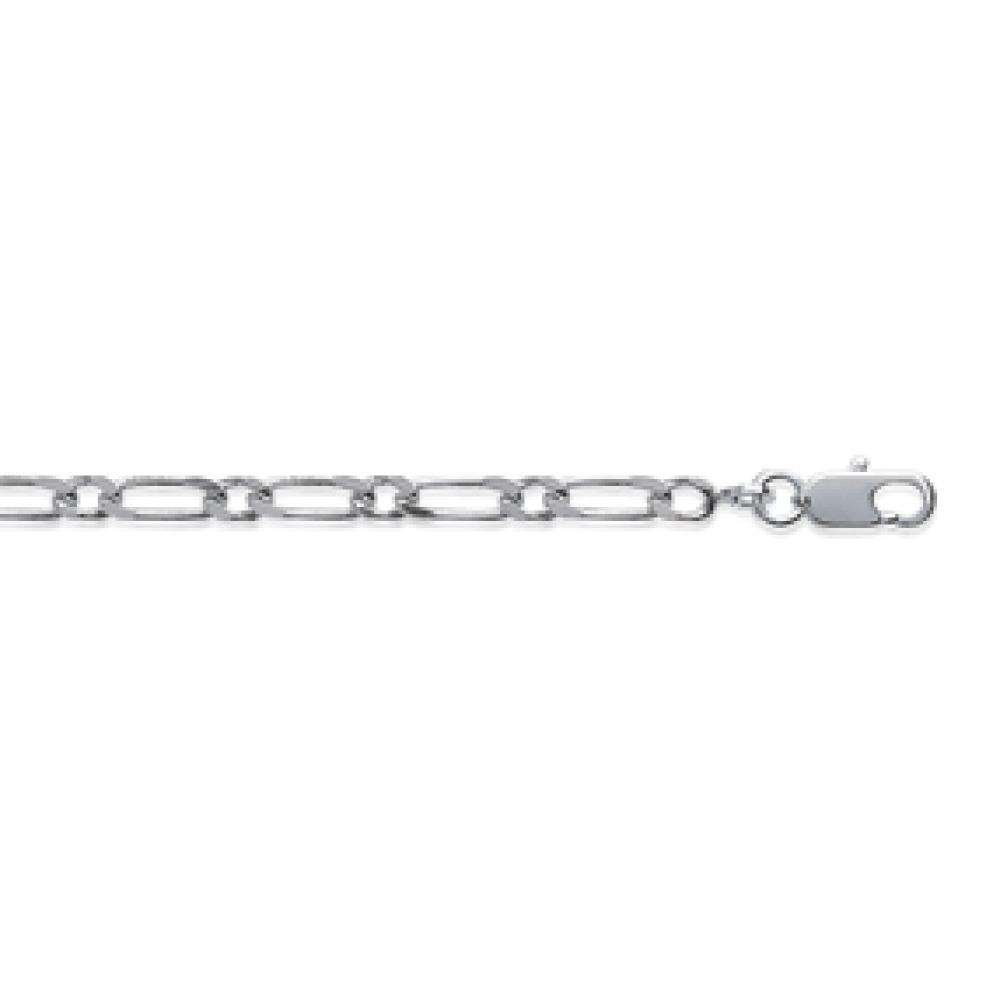 Chain Figaro Sterling Silver - for Men/Women - 60cm