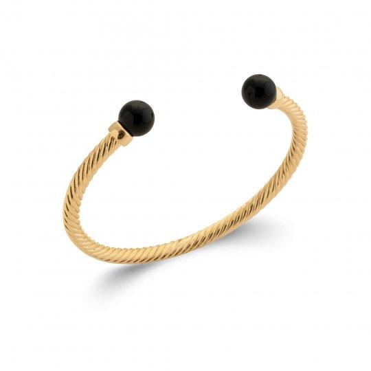 Bracciale Bangle Placcato in oro 18k - Agate - Donna - 58mm