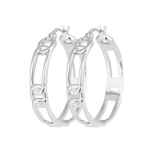 Hoop Earrings Argent Rhodié - Women
