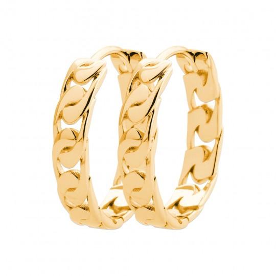 Hoop Earrings Gold plated 18k - Women