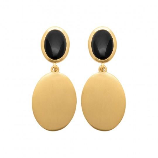 Ohrringe Vergoldet 18k - Agate - Damen