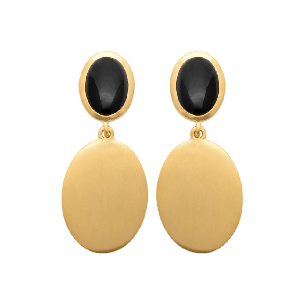 Earrings Gold plated 18k - Agate - Women