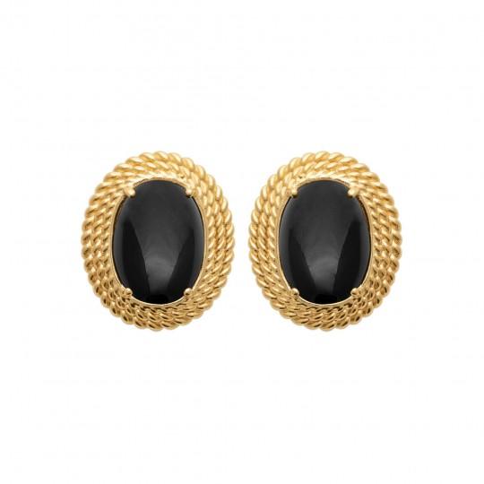 Earrings Gold plated 18k - Agate - Women