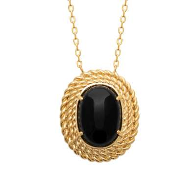 Necklace Gold plated 18k - Agate - Women - 45cm