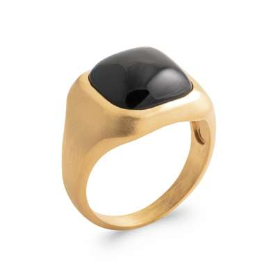 Anello Placcato in oro 18k 5 Micron - Agate - Donna