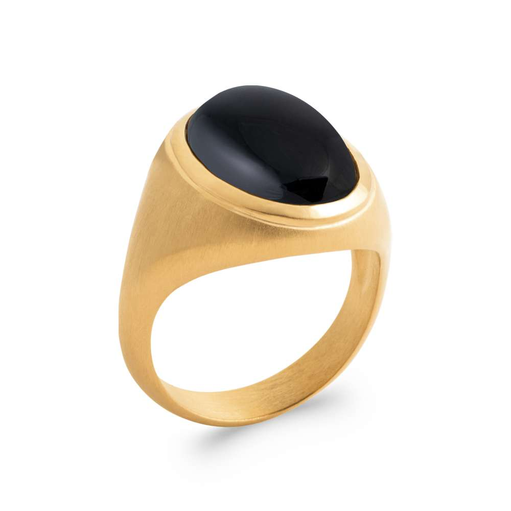 Ring Gold plated 18k 5 Microns - Agate - Women