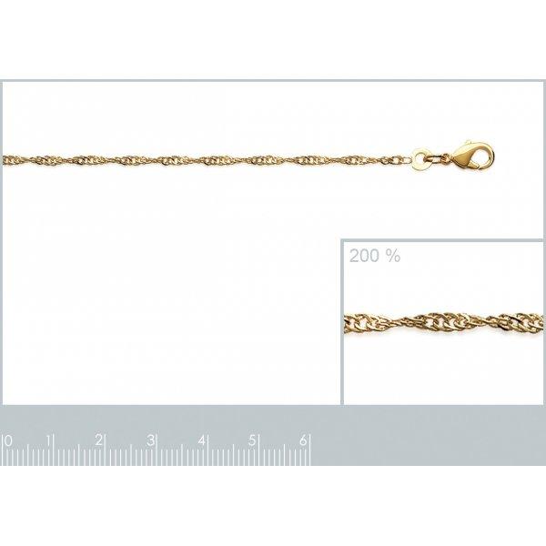Bracelet chaîne Singapour Plaqué Or - Femme - 23cm
