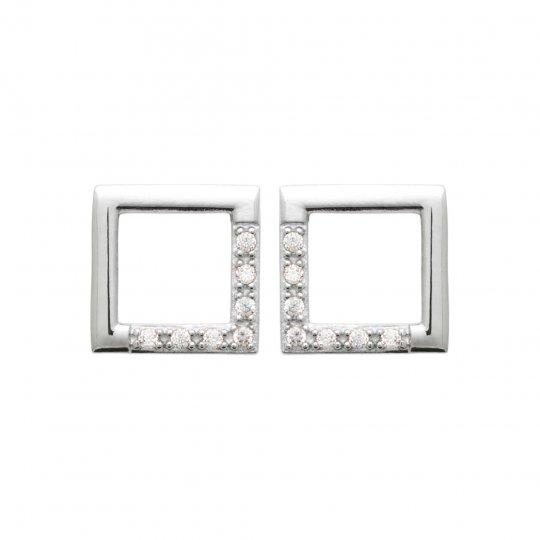 Earrings Argent Rhodié - Cubic Zirconia - Women