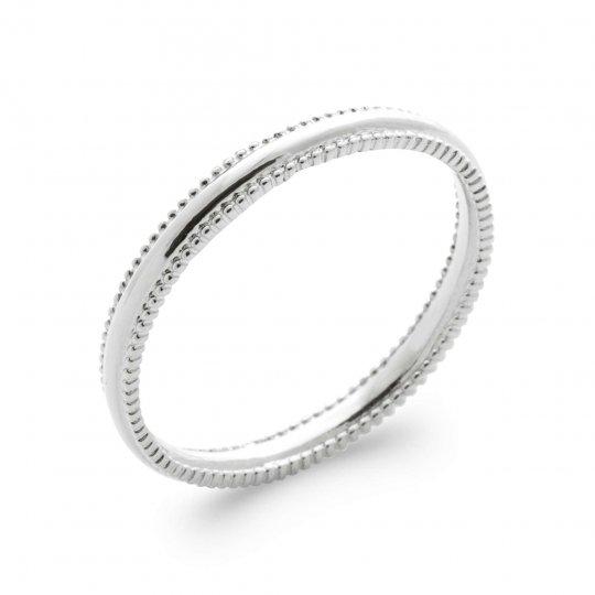 Ring fine Argent Rhodié - Women