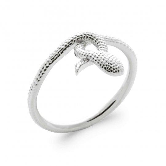 Ring serpent Argent Rhodié - Women