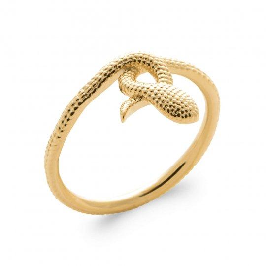 Bague serpent Plaqué Or - Femme