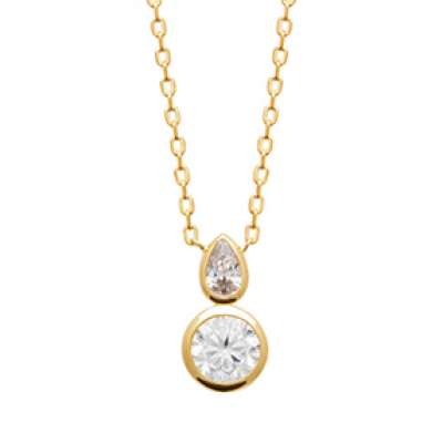 Necklace Gold plated 18k - Cubic Zirconia - Women - 45cm